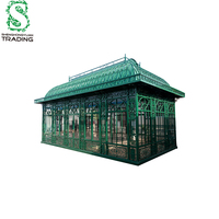 Decorative Cheap Wrought Iron Garden Green House