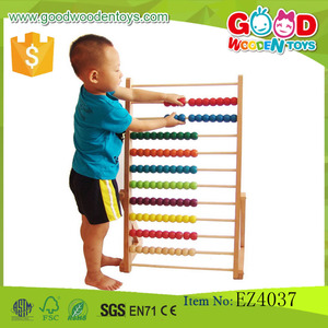 Preschool Kids Wooden Toys Wooden Big Abacus (Set) Toys Educational Wooden Toys