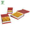 Hot sale printing paper chocolate packaging box macaron boxes with divider