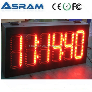 waterproof Outdoor LED digital traffic time clock/timer/countdown/counter display sign