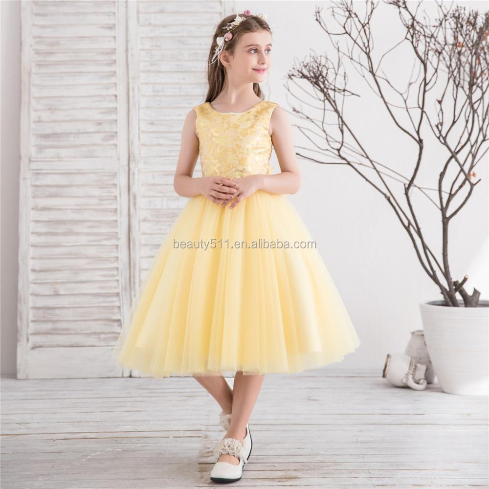 2018 wedding party yellow flower girl dresses kids party wear 2018 wedding party yellow flower girl dresses kids party wear dresses for girls puffy tull net mightylinksfo Image collections