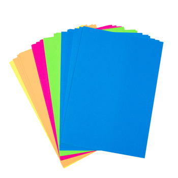 A4 Self Adhesive Colorful Fluorescent Paper for DIY Packing Paper