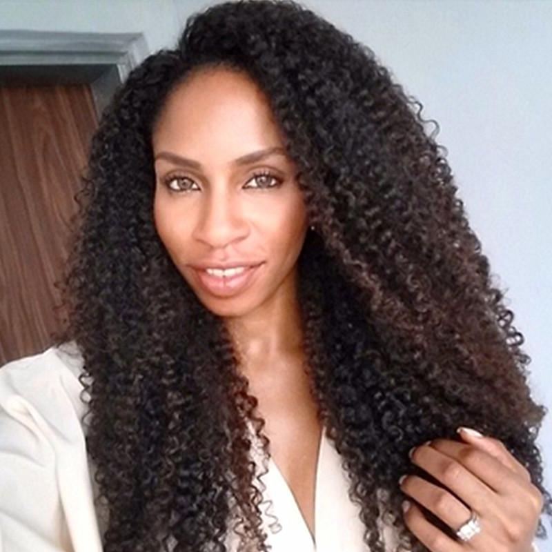 Unprocessed Peruvian Glueless Full Lace Wig Afro Kinky ...