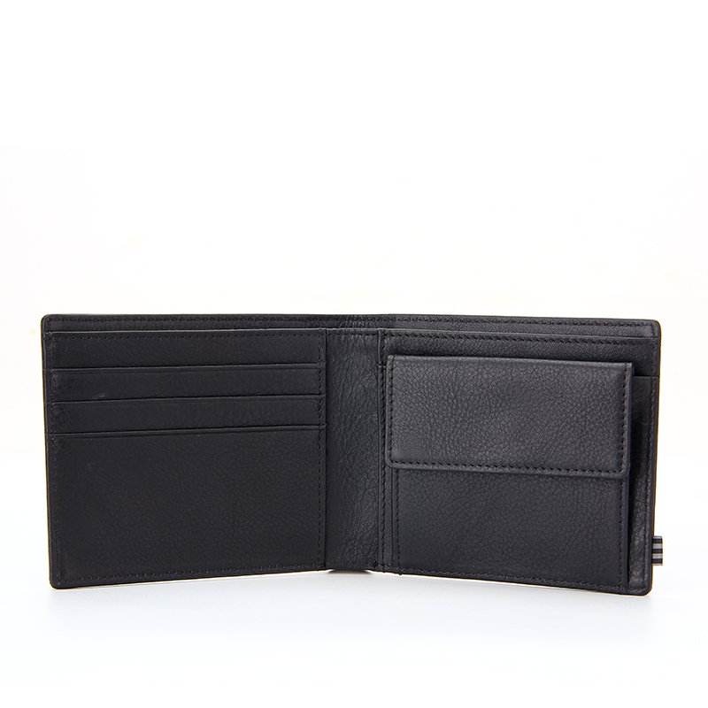 Genuine Leather Wallets For Men Slim Bifold RFID Blocking Wallet With Coin Pocket