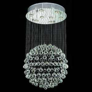 Made in China commercial decoration crystal chandelier steel wire
