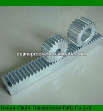 C45S ANSI new type rack and pinion for CNC machine rack gear crown and pinion