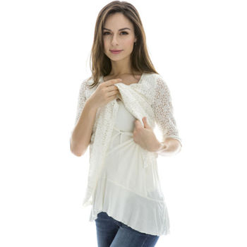 b19296e6248 Breastfeeding Tops Maternity Nursing Clothes Pregnancy Wear Nursing Tops  White