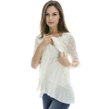 75d12435552 Breastfeeding Tops Maternity Nursing Clothes Pregnancy Wear Nursing Tops  White
