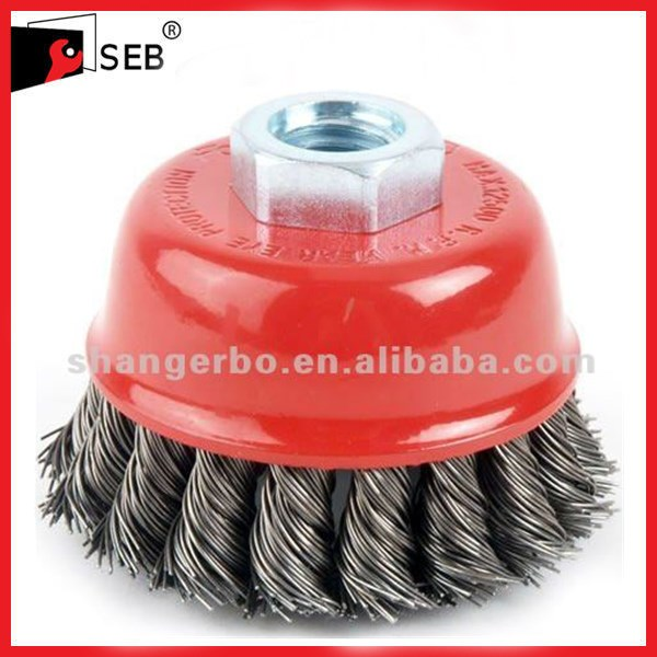 Bowl Shaped Twisted Knot Steel Wire Brush