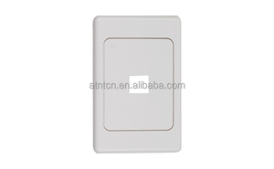 Australia ABS plastic rj45 1port network face plate,2 port face plate
