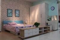 Factory Directly Wholesale King Size Natural Wood Bedroom Sets (SZ-BFA8002)