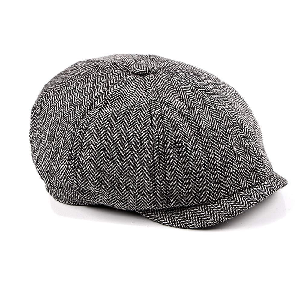 b7b21dba58a1b Funme Men s Classic Herringbone Tweed Wool Blend Newsboy Flat Ivy Driving  Hat Berets