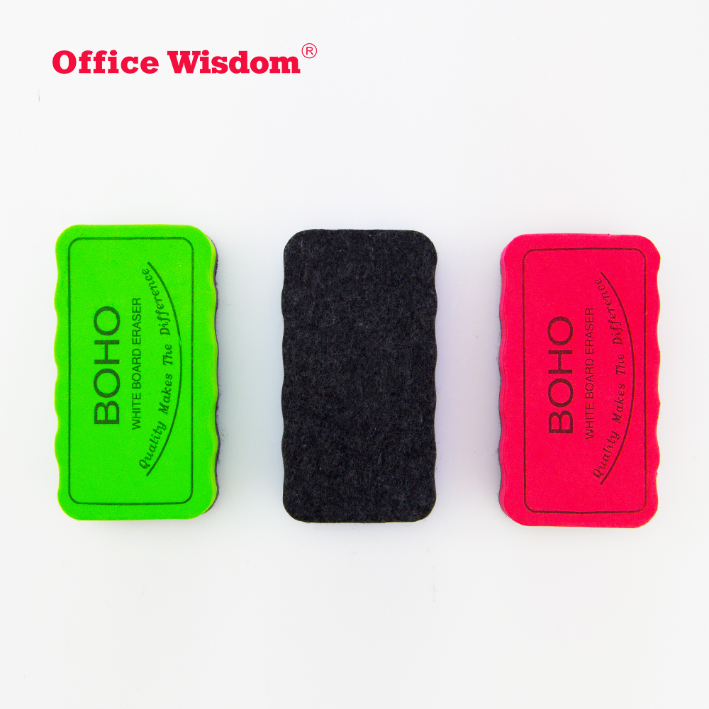 colors Solid Rectangle EVA Magnetic Whiteboard customized felt eraser