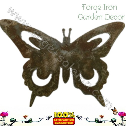 Garden Wrought iron Stamping butterfly ornaments