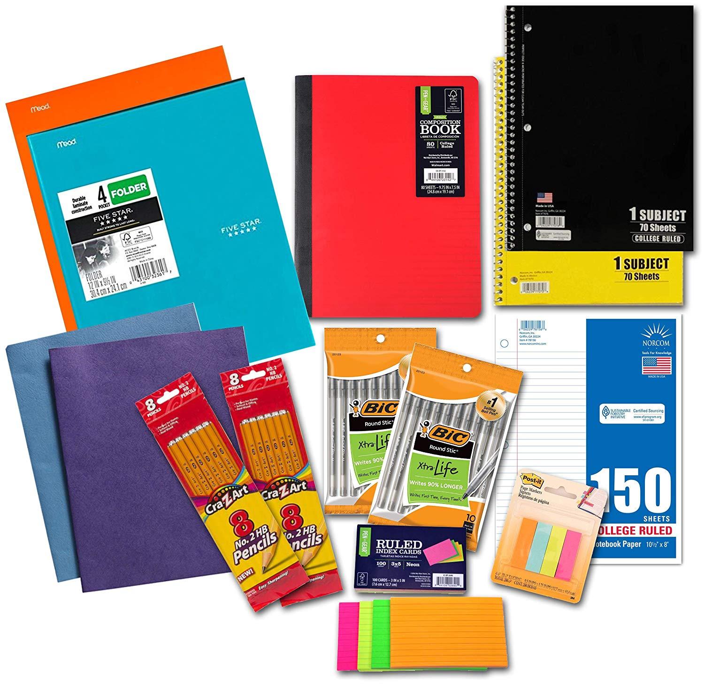14 Piece Student Grade School College Essential Supplies Quick-start Bundle Kit