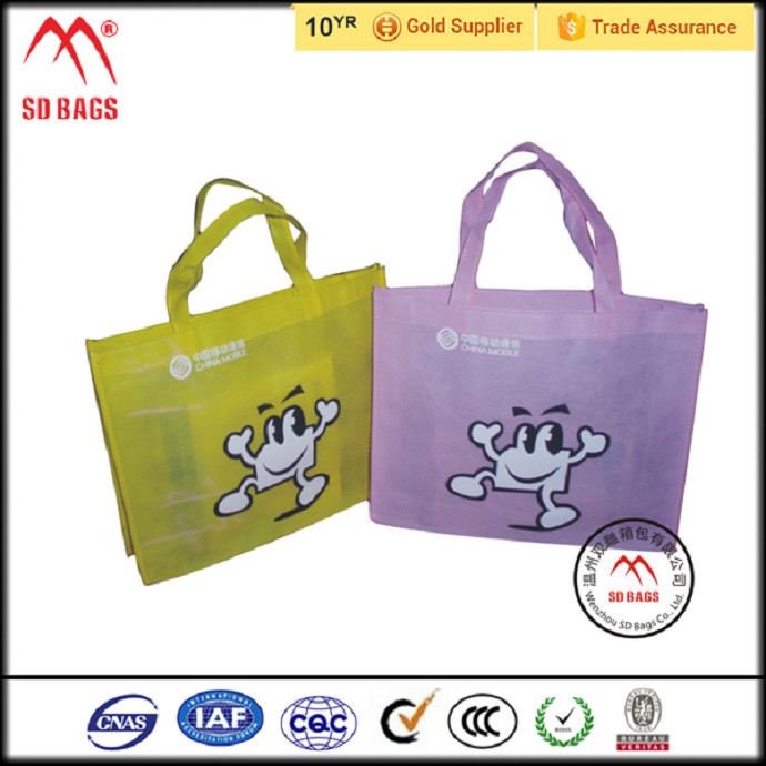 China supplier hot sell pictures printing non woven shopping bag