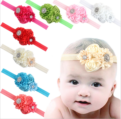 newborn baby rhinestone elastic Headband girls Tiara sweat headband Photography Props