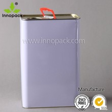 Paint can chemical oil can 5L rectangular metal tin can
