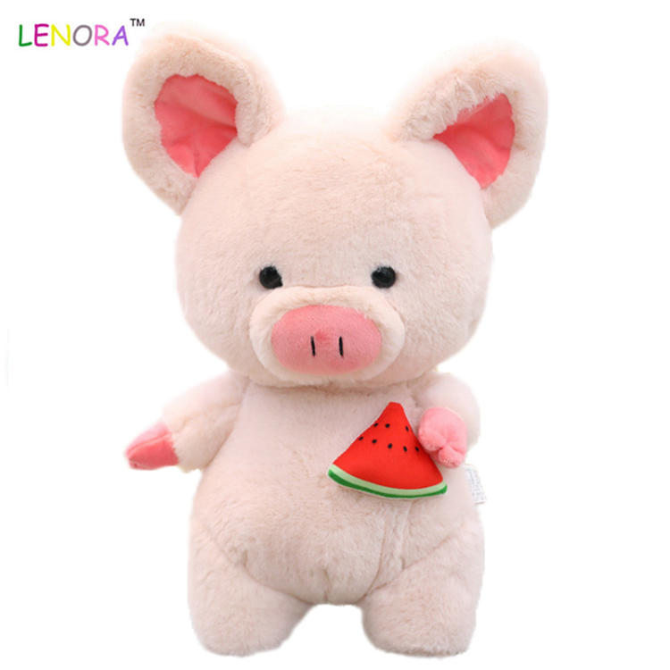 New Creative Sunshine Pig Doll with Big Ear and Scarf cute Watermelon Fruit stuffed Plush Toy Festival Children's Gift