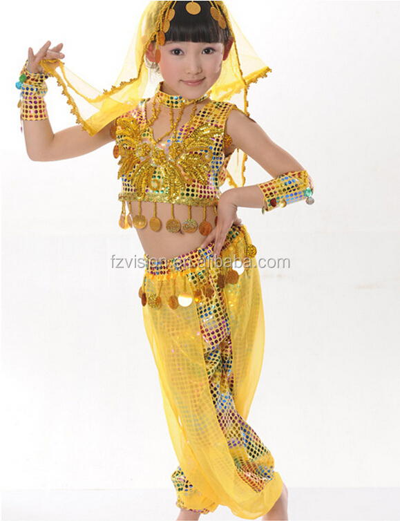 Supply Wholesale Cheap Indian Kids Belly Dance Arabic Dance Costumes