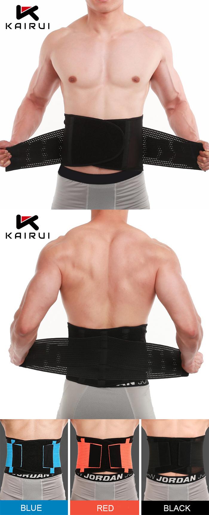 Verstelbare mannen gym afslanken zweet riem taille trimmer voor training shaper
