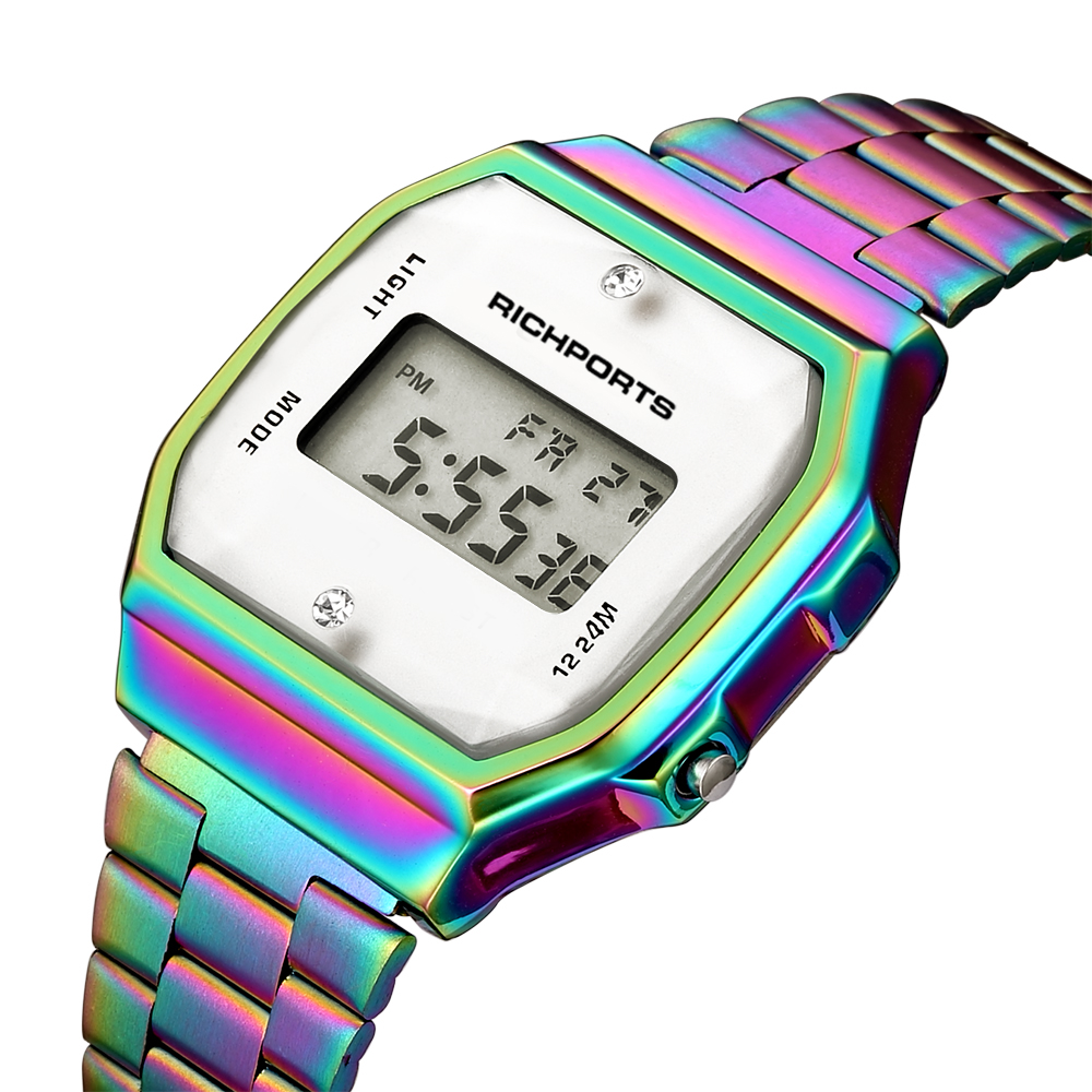 2019 New Arrival Dazzle Colorful Digital Watches for Women Luxury Litmus Tornasol Watch