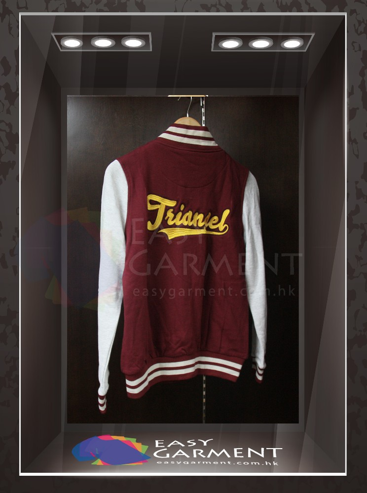 Manufacturer High Quality Logo Printing Unisex zip up baseball jacket