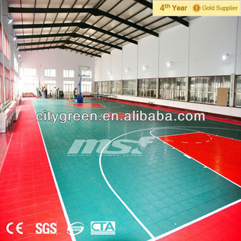 Easy Install Basketball Interlocking Floor Tiles Indoor