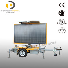 Australian standard solar traffic LED trailer signs VMS