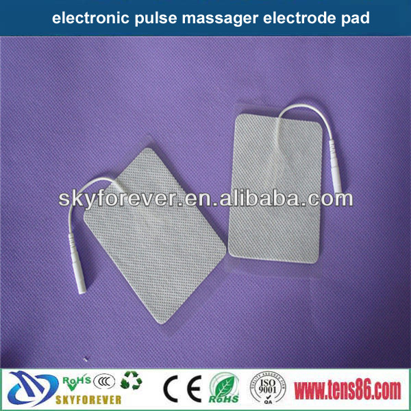 Home using 6*9cm electrostatic therapy reusable snap electrode pads for medical equipment