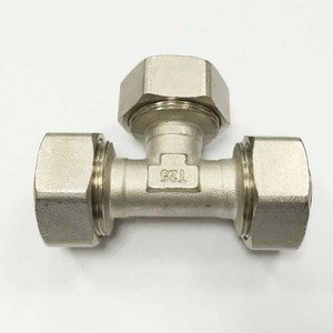 Hot Sale Plumbing Compression Brass Fitting for Pex Pipe Unequal Tee