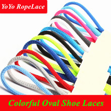 2017 Fuzhou YoYo Oval Colored Shoelaces Trainer Shoes Semi Round Shoe Laces