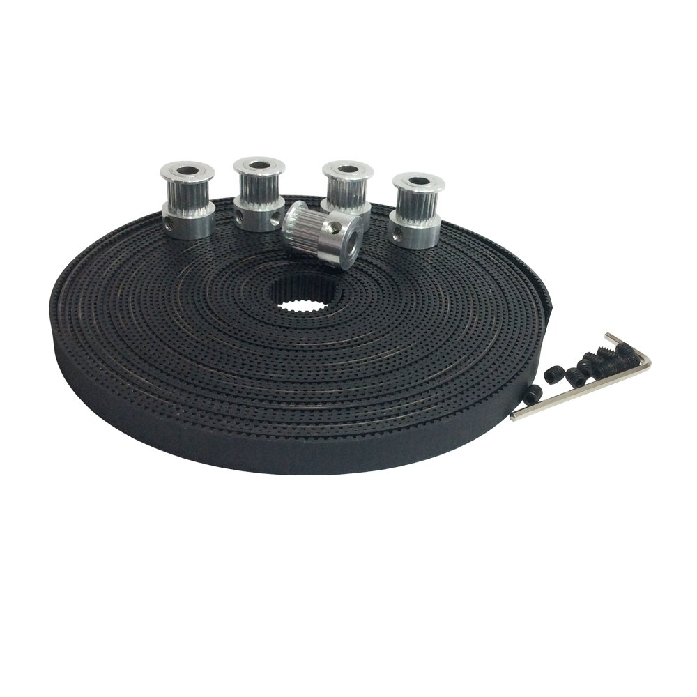 Cheap Timing Belt Width Find Deals On Line At Gt2 Pulley 40 Teeth Bore 10mm 6mm Get Quotations Bemonoc 5pcs Aluminium 20 635mm And 5meters