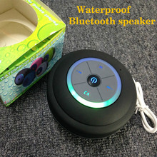 Free Shipping Suction Cup Waterproof  Bluetooth Shower Speaker Support TF Card And FM Radio
