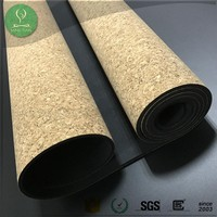Custom PVC/TPE free natural cork yoga mat for yoga non slip eco tree rubber bottom printed suede yoga mat