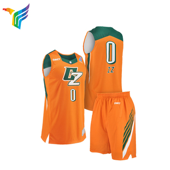 Benutzerdefinierte Sublimation Blank Basketball Uniformen Basketball Jersey Uniform Design Farbe Gelb