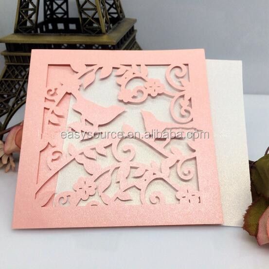 Laser cutting birthday invitation card for opening ceremony/invitation card template HK03