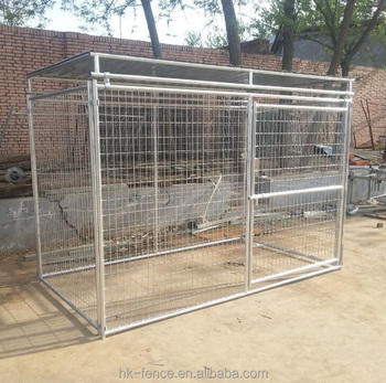 direct factory cheap sale large outdoor dog kennel fence panel chain link fence dog kennel