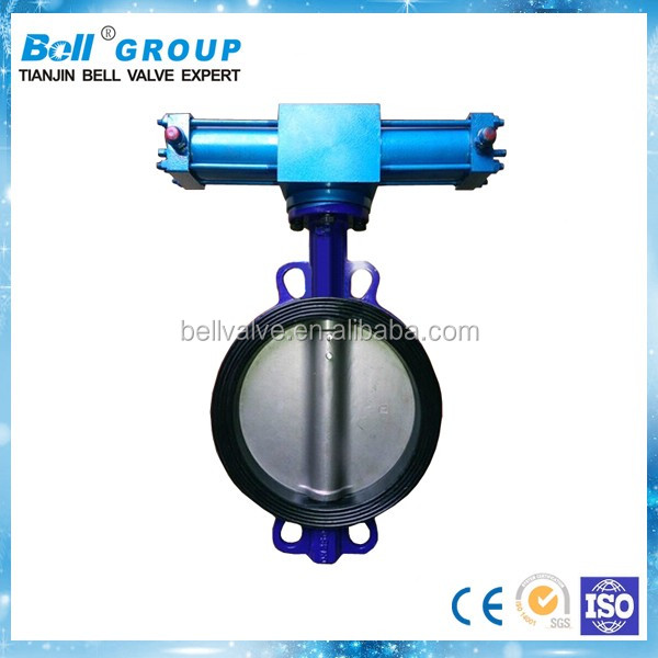 Cast Iron Dn700 Gearbox Wafer Butterfly Valve Price