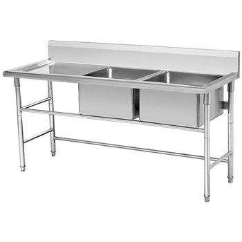 Double Kitchen Used Commercial Stainless Steel Sinks - Buy Sink ...