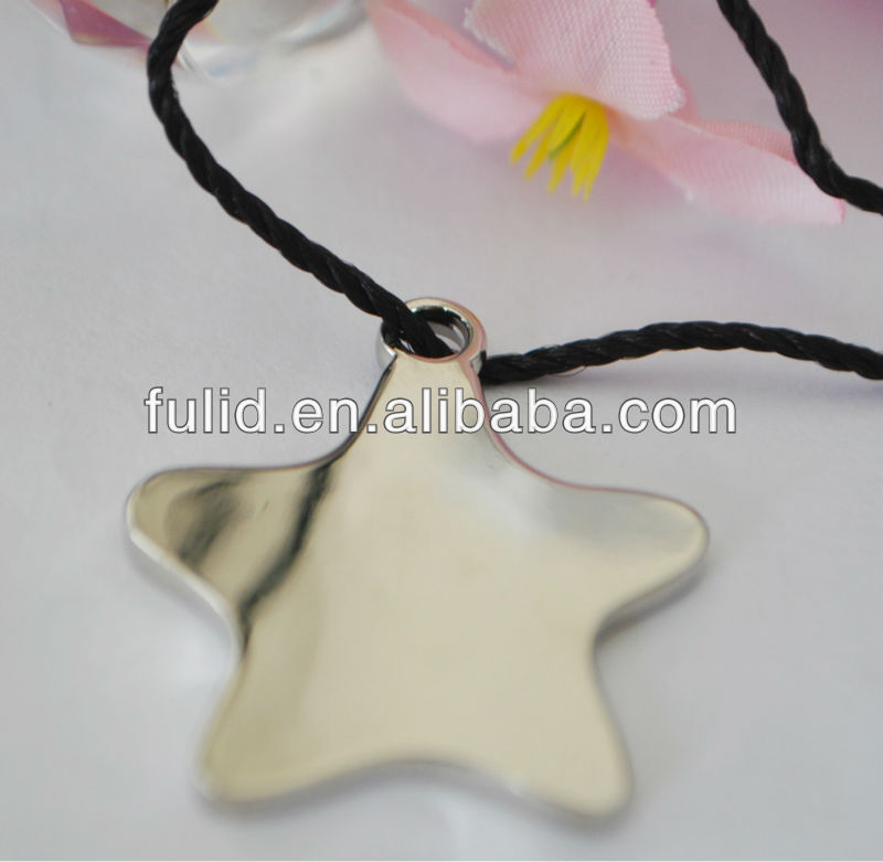 custom metal star shape hanging ornament with string