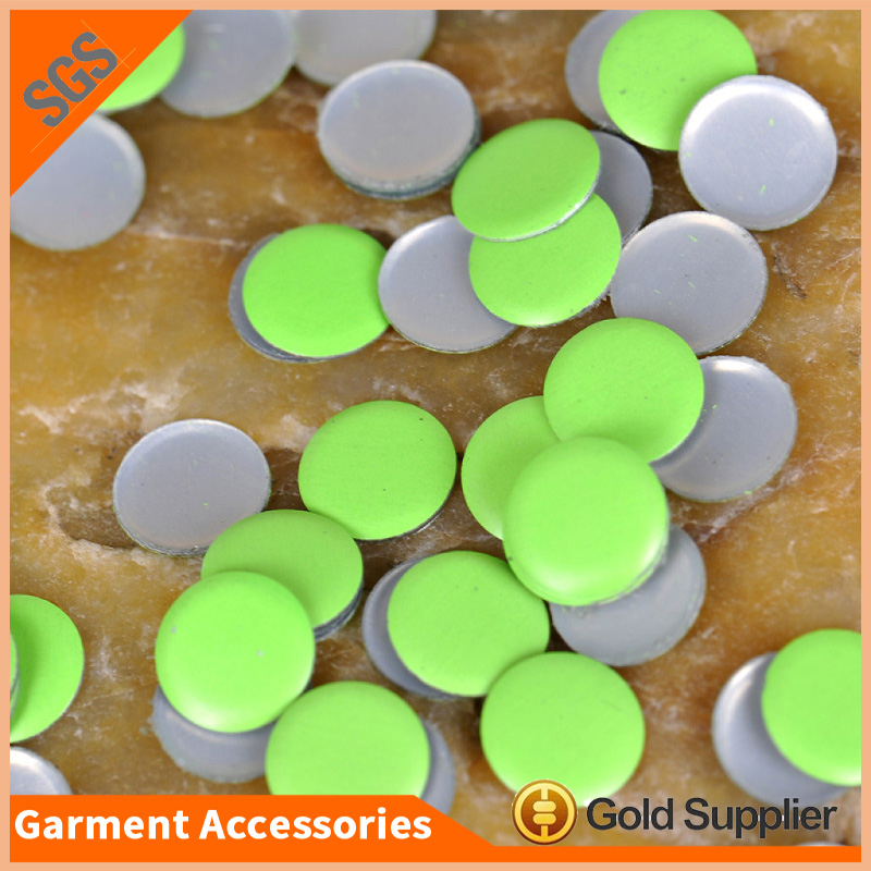 lead free neon color round aluminum 4mm hotfix nailhead for T-shirt