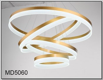 Modern Led Liner Pendant Lamp Decorative Ring Light Ing Md5060 3r