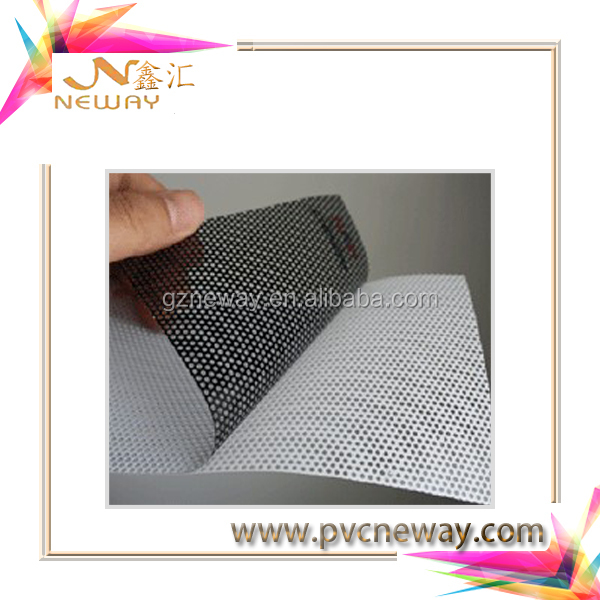 competitive price transparent glue self adhesive pvc vinyl car film for car body sticker/pvc self adhesive one way vinyl window