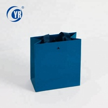 Custom luxury blue eyelet 붙 mini 크리스마스 장식 drawstring gift <span class=keywords><strong>종이</strong></span> bags