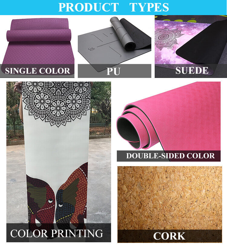Wholesale Travel Non Slip Organic Cork Polyurethane Yoga Mats Round Towel Private Label