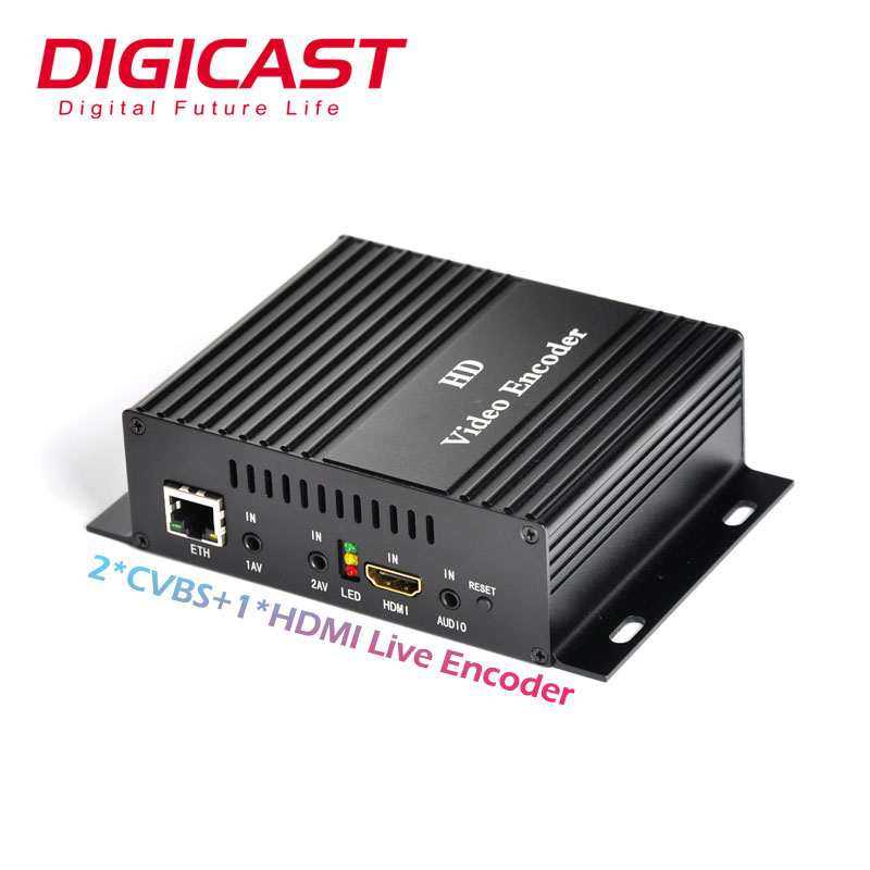 1080 P Full HD IPTV Internet Live Streaming Video Encoder 3G 4G IP H264 Encoder Dengan HDMI Loop out Video Server Onvif