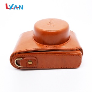 Small Vintage PU Leather DSLR Camera Case Bag Women Shoulder Messenger Bag