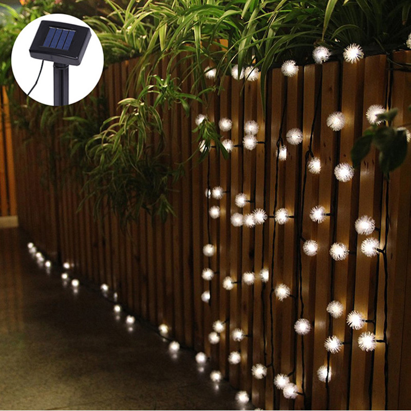 Solar Outdoor String Lights By Innoo Tech: Luminaria 4.8m 20 LED String Lights Fuzzy Ball Led Solar
