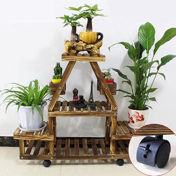 personnalis coin support en bois tagres de plantes dintrieur